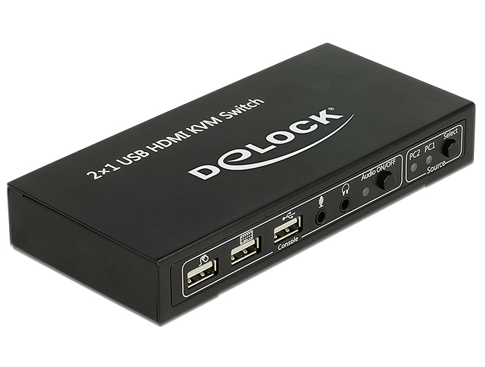 DELOCK HDMI KVM switch 2 > 1, USB-vel és hanggal