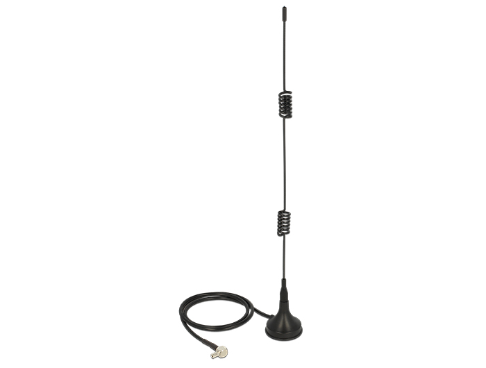 Delock LTE Antenna TS-9 Plug 2 - 3 dBi omnidirectional magnetical base fixed black