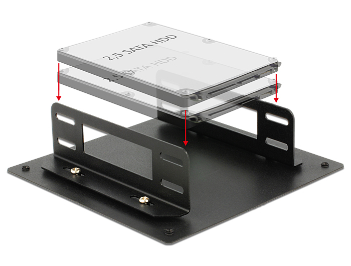 "Delock Installation frame for 2 x 2.5"" HDD"