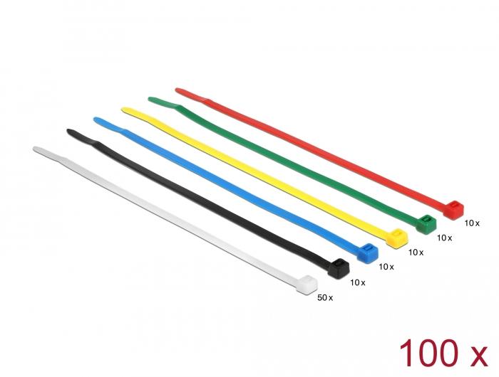 Delock színes kábelkötözők, 200mm x 3.6 mm, 100 darab
