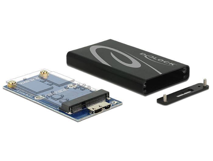 Delock Külső merevlemezház mSATA SSD > USB 3.0