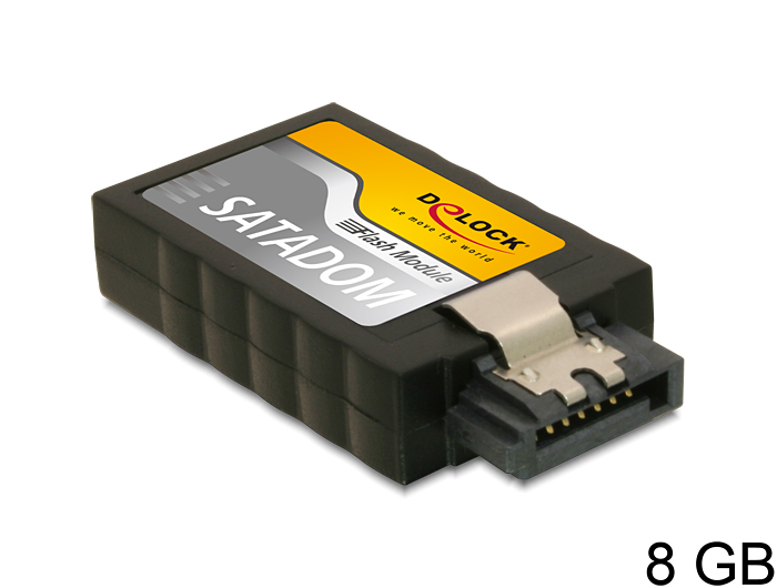 Delock SATA (6Gb/s) 8GB-s Flash Modul, A19, függőleges