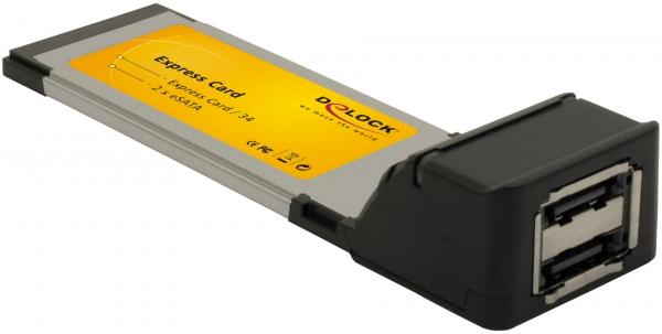 Delock Express Card - eSATA II adapter (2 férőhellyel)