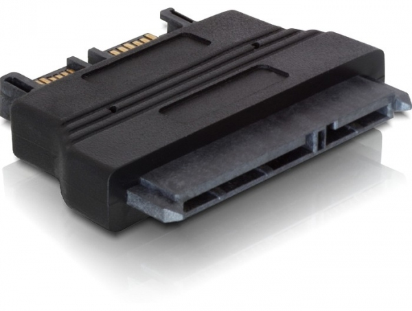 Delock Adapter SATA 22tűs female > Slim SATA 13tűs male
