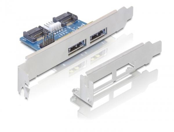 Delock Slot konzol 2x eSATAp 5V/12V