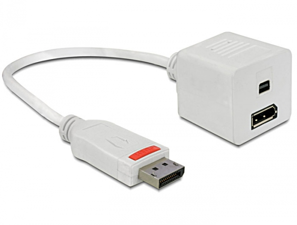 Delock Adapter Displayport male > Displayport + Displayport mini female