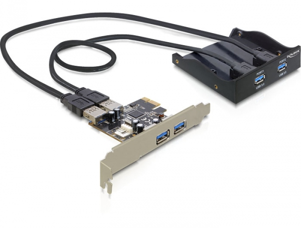 Delock elülső panel, 2 x USB 3.0 + PCI Express Card 2 x USB 3.0