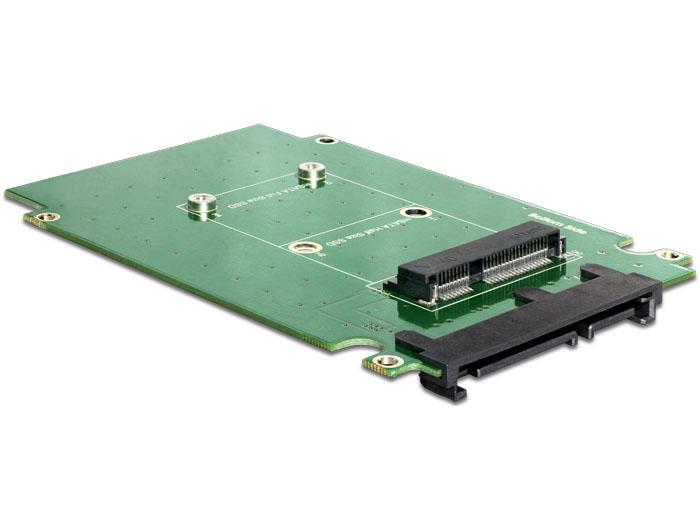 "Delock SATA 22 pin > mSATA konverter 2.5"" kerettel"