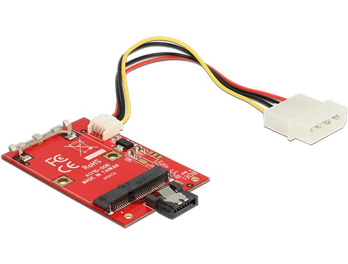 Delock átalakító SATA 7 Pin > mSATA teljes méret