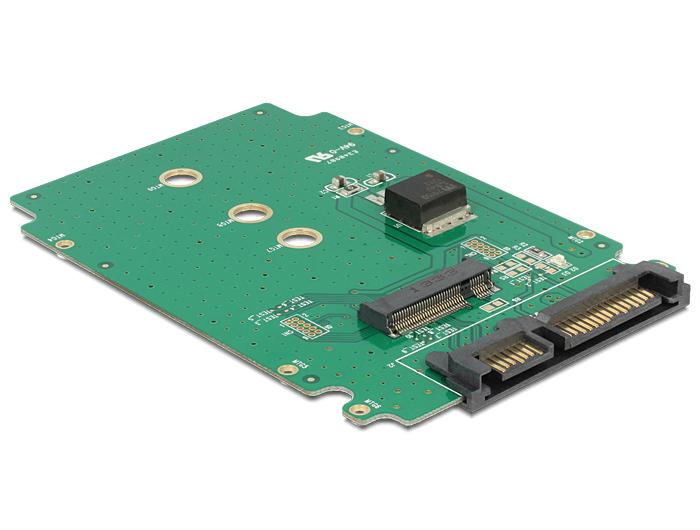 Delock SATA 22 pin > M.2 NGFF átalakító