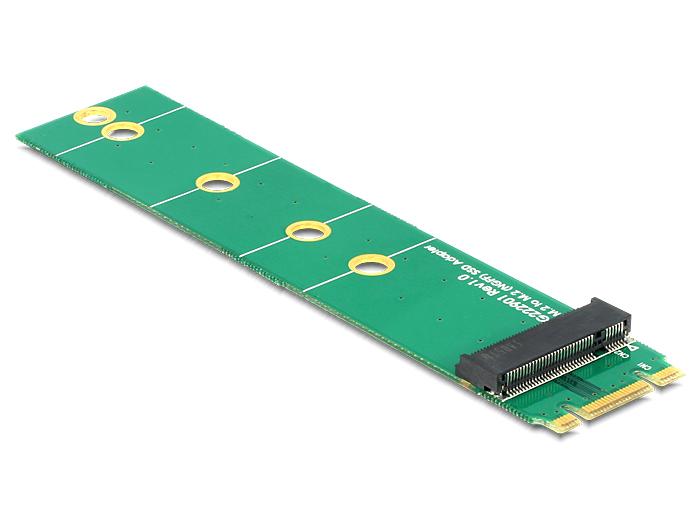 Delock Adapter M.2 NGFF key B+M male > M.2 NGFF key B slot port saver
