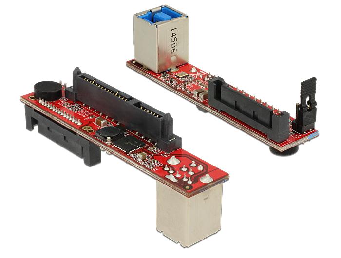 Delock Sebességű SATA 6 Gb/s-átalakító > B típusú USB 3.0-s csatlakozóhüvely