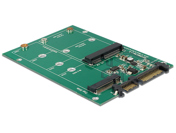 Delock Converter SATA 22 Pin > 1 x M.2 NGFF + 1 x mSATA