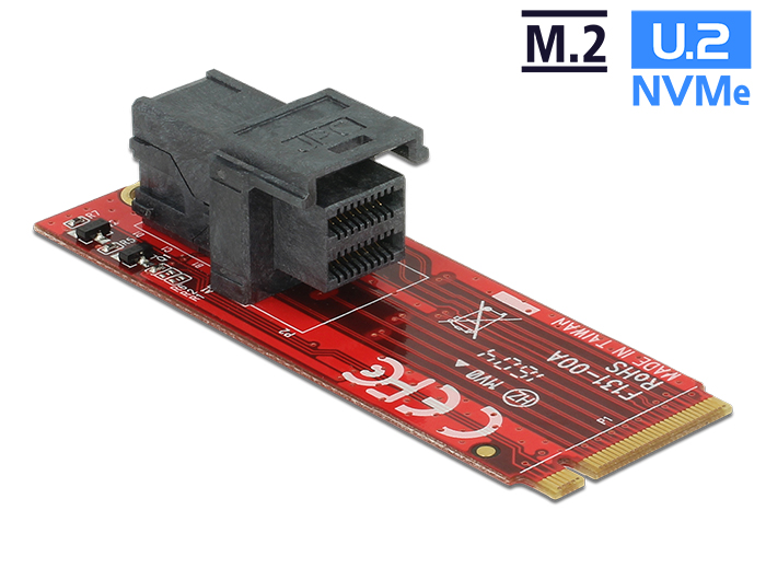 Delock Adapter M.2 M nyílás > SFF-8643 NVMe