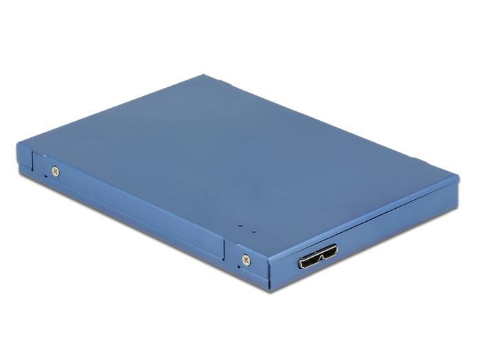 """Delock 2.5""""-os átalakító USB 3.1 Micro-B csatlakozóhüvellyel > M.2 + mSATA merevlemezházzal, 9,5 mm"""