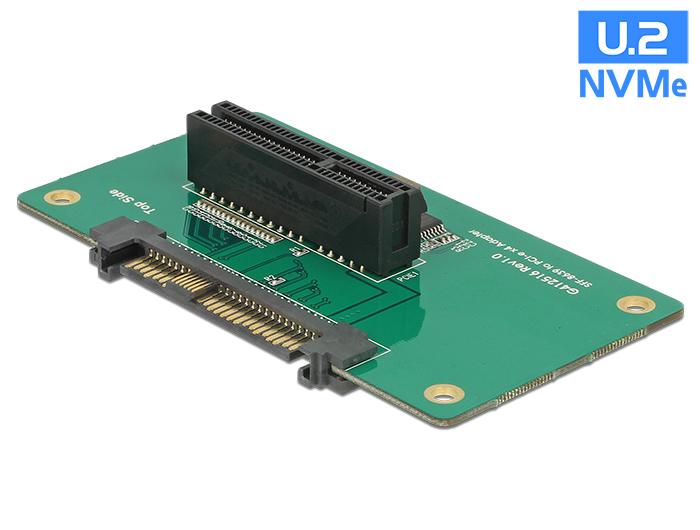 Delock Adapter U.2 SFF-8639 > PCIe x4 rögzítolemezzel