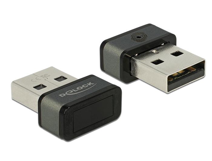 Delock USB A-típusú ujjlenyomat olvasó Windows 10 Hello rendszerhez
