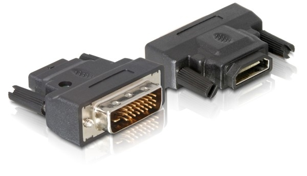 Delock Adapter DVI-25tűs male > HDMI female