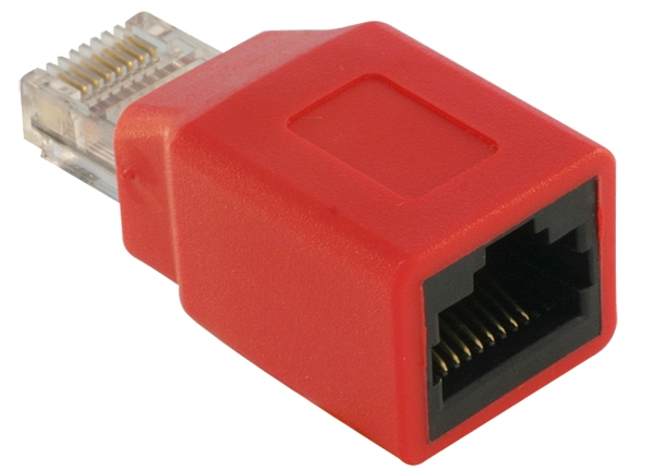 Delock RJ45 Crossover Adapter male - female