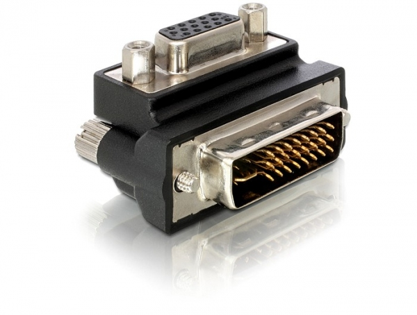 Delock Adapter VGA female > DVI 29pin male 90° right angled