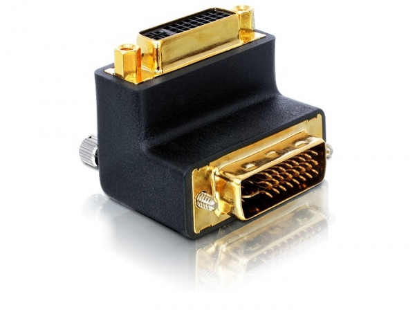 Delock Adapter DVI 29tűs male-female right angled