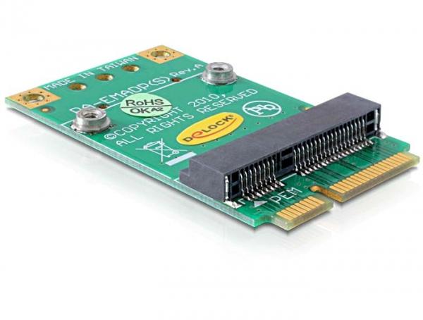 Delock Mini PCI Express (fél méret -> teljes méret) átalakító