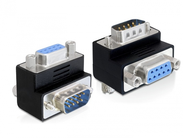 Delock adapter Sub-D 9 pin apa > anya 90°-ban elforgatott