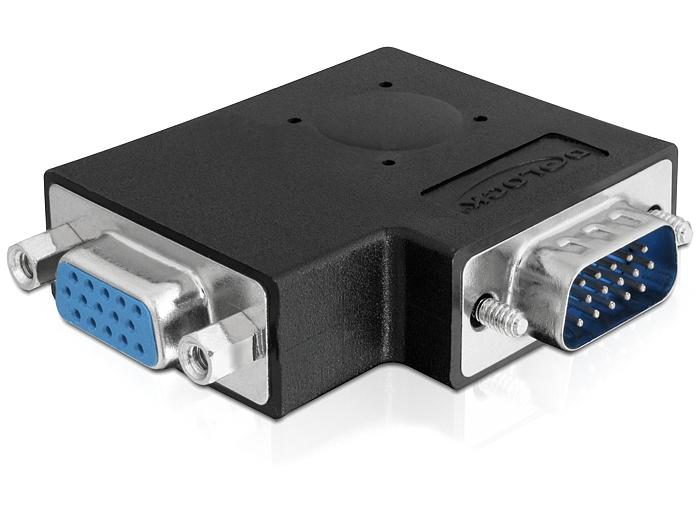 Delock adapter VGA apa / anya 90°-os szögben oldalra