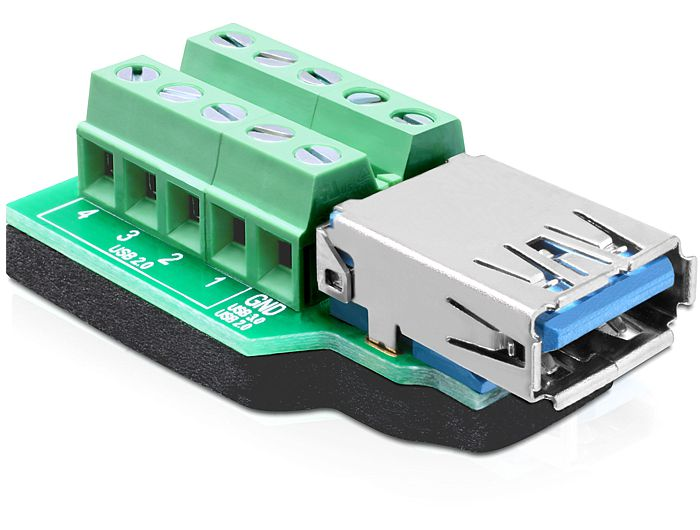 Delock adapter, USB 3.0-A anya > terminal Block 10 pin