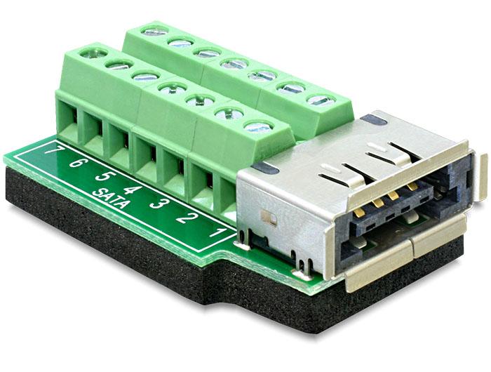 Delock eSATApd anya > Terminál Blokk 14 pin adapter