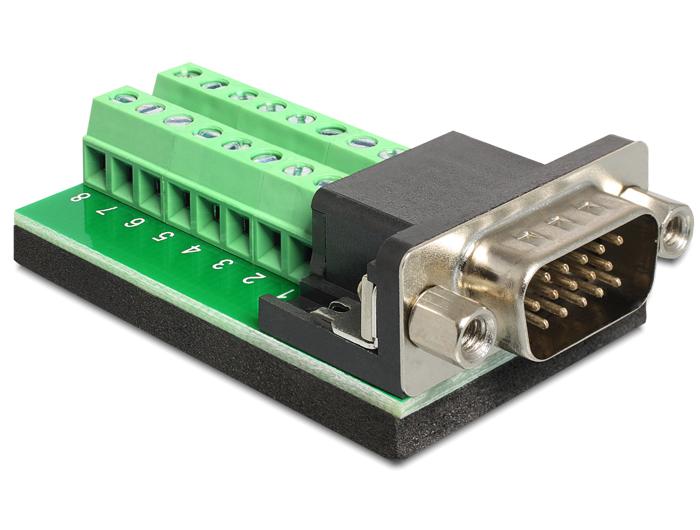 Delock Adapter VGA apa > Terminál blokk 16 érintkezővel