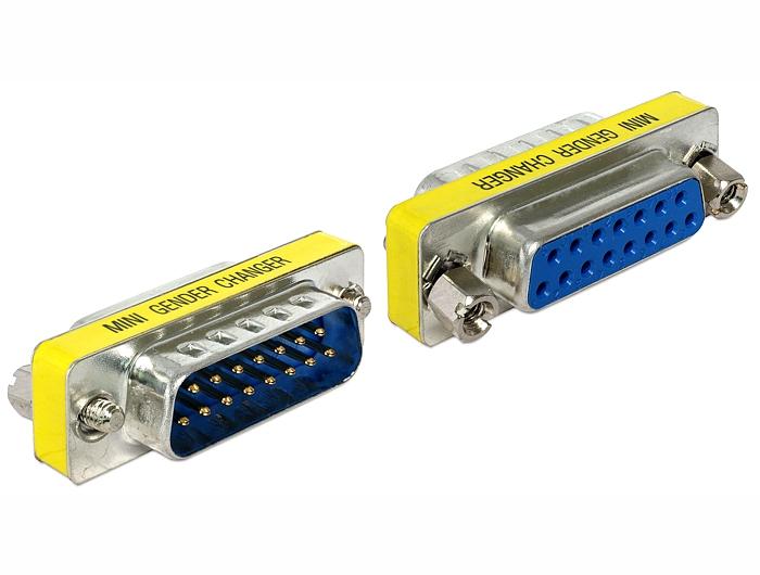 Delock adapter Sub-D 15 pin apa > anya portmentő