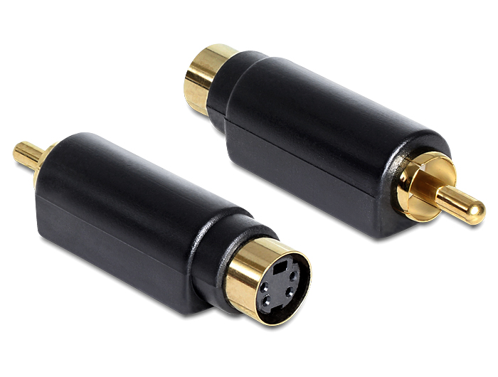 Delock S-Video mini DIN anya 4 pólusú > 1 x RCA apa adapter