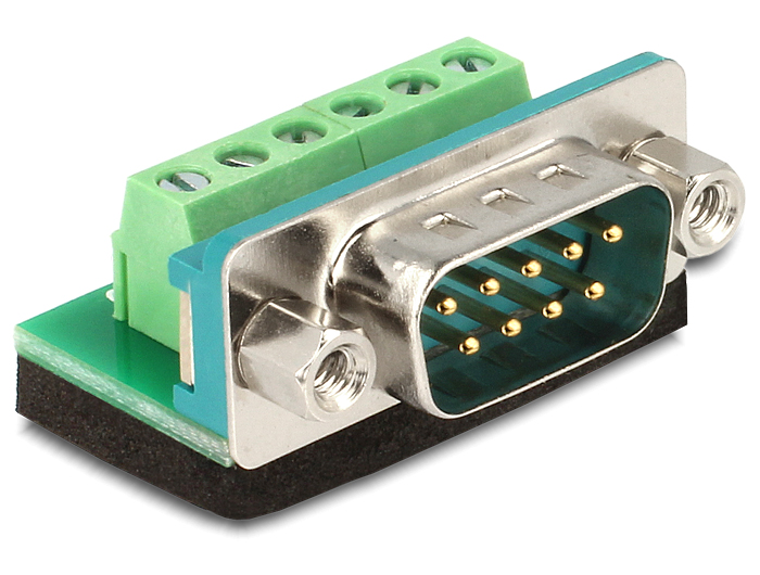 Delock Sub-D 9 pin apa > Terminal block 6 pin adapter