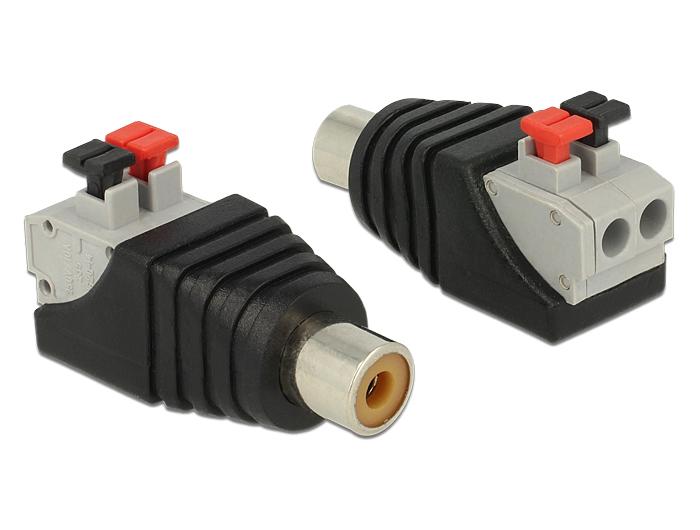 Delock adapter RCA aljzat - 2 pol. nyomógombos sorkapocs