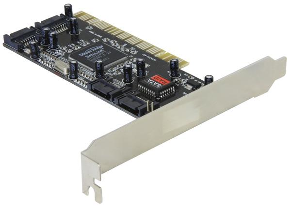 Delock SATA 4 csatlakozós RAID vezérlő