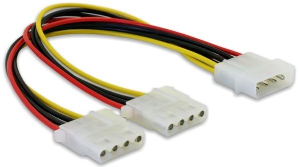 Delock ''Y'' elosztó kábel - 2 db 4 tűs Molex