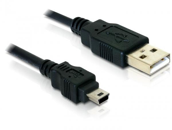 Delock kamera kábel USB 2.0 - USB-B mini 5 tűs apa-apa