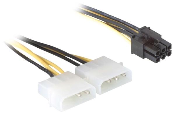 Delock hálózati kábel, PCI Express kártyákhoz, 15cm