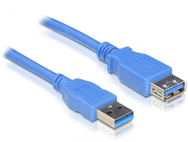 Delock USB3.0-A (apa/anya), 3 méteres hosszabbító kábel