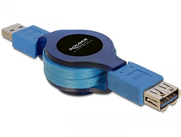 Delock USB 3.0 visszatekerhető hosszabbító kábel