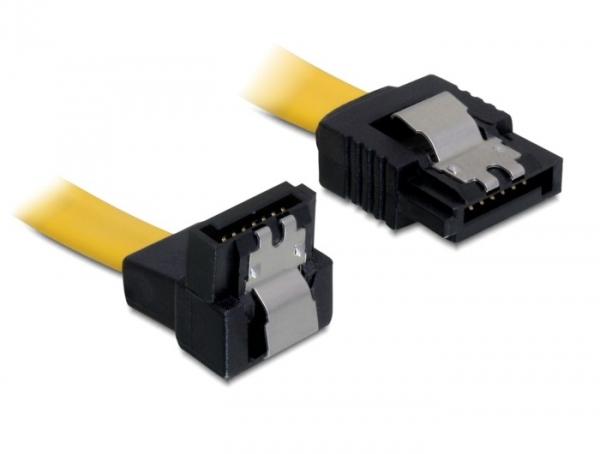 Delock SATA 6 Gb/s le /egyenes kábel, fém, 30 cm