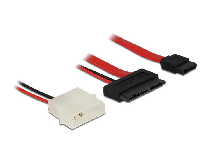Delock Cable Micro SATA male + 2 pin Power 5 V > SATA 7 pin 60 cm