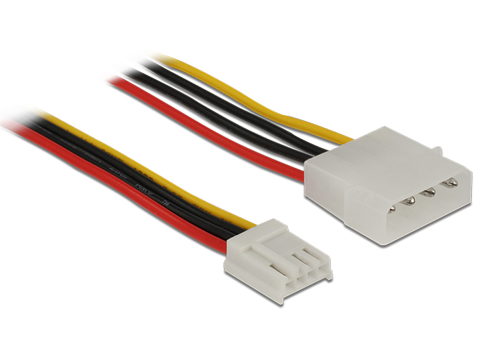 Delock Power Cable 4 pin male > 4 pin floppy female 40 cm