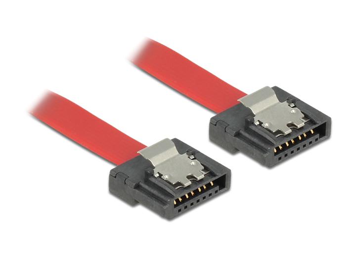 Delock kábel SATA FLEXI 6 Gb/s 20 cm vörös fém