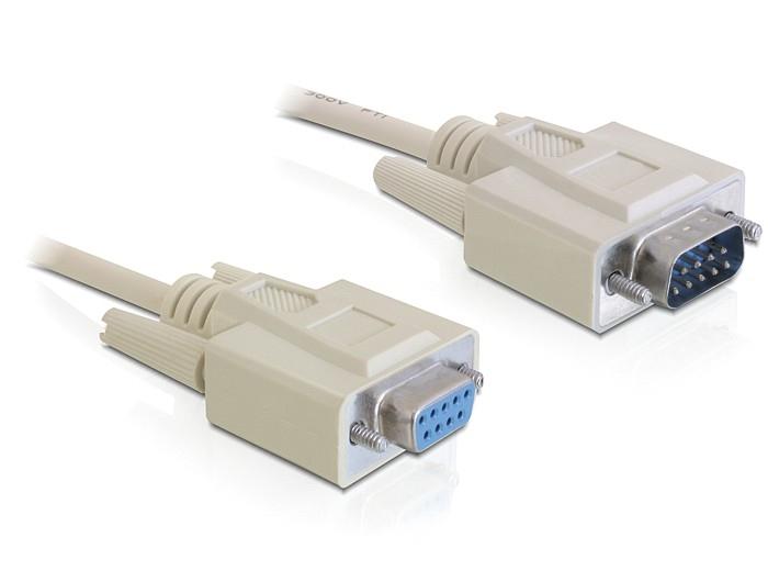 Delock RS-232 soros kábel, Sub-D9 apa / anya, 5 m