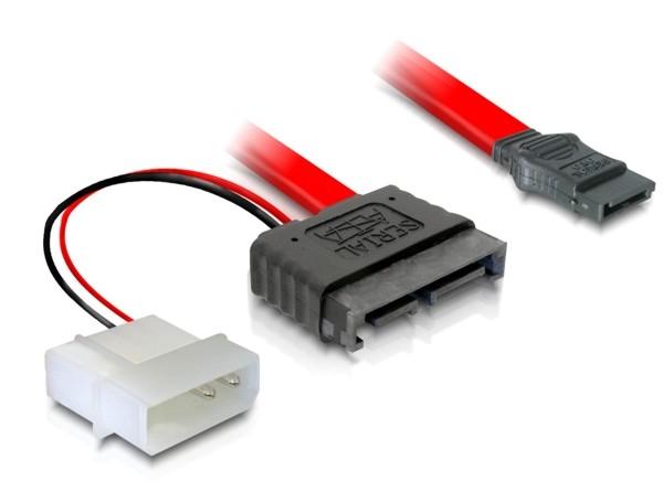 Delock SATA Slimline apa + 2 tűs hálózati 5V – SATA átalakító kábel