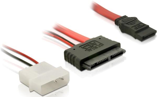 Delock Micro SATA anya + 2 tűs hálózati - SATA átalakító kábel