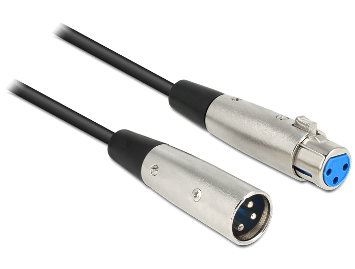 Delock XLR apa > XLR anya 3 pin kábel, 6m