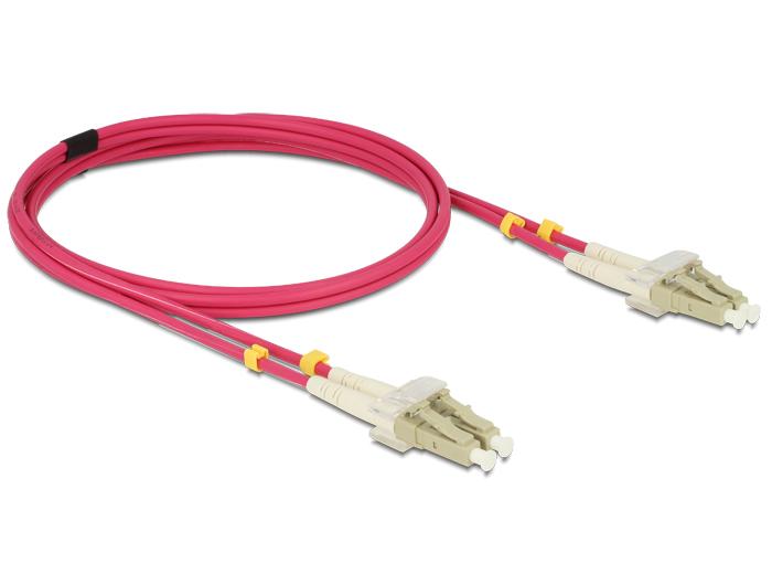 Delock OM4 optikai kábel, LC/LC csatlakozás, 3m